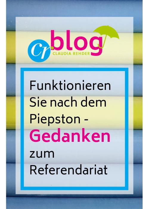 Blog - Gedanken zum Referendariat